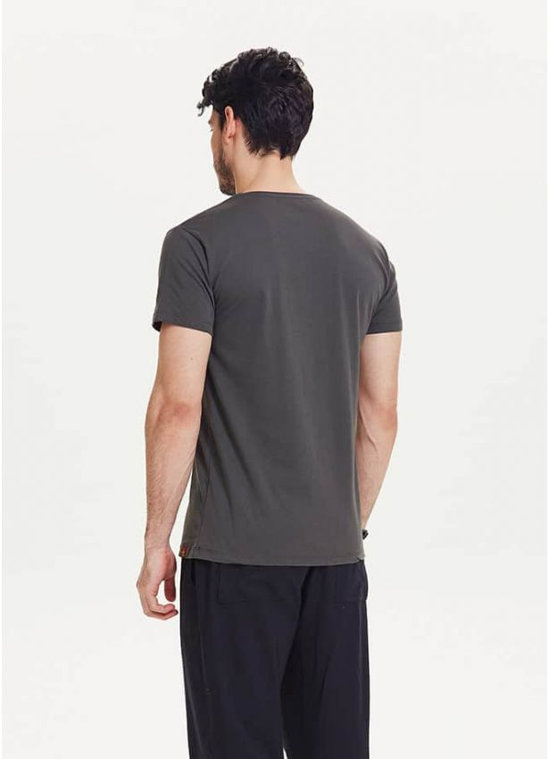 Cool Baskılı Kısa Kollu Erkek Füme T-Shirt