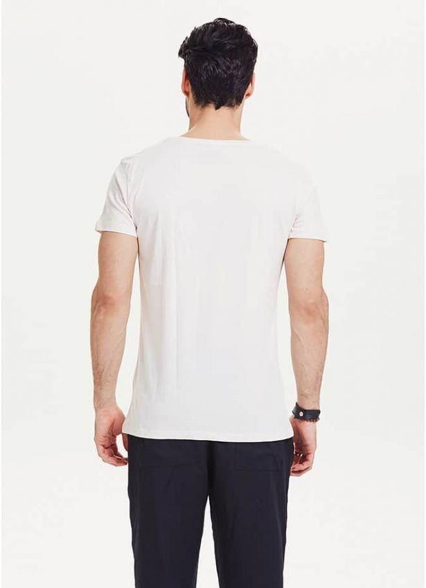 Hippy Punk Beyaz Kısa Kollu Erkek T-Shirt