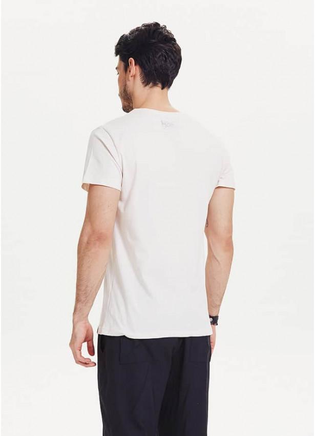 Ayı Baskılı Kısa Kollu Beyaz Erkek T-Shirt