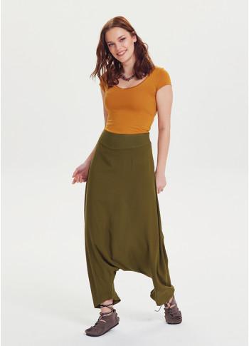Bohem Tarz Fermuarlı Modern Şalvar Pantolon