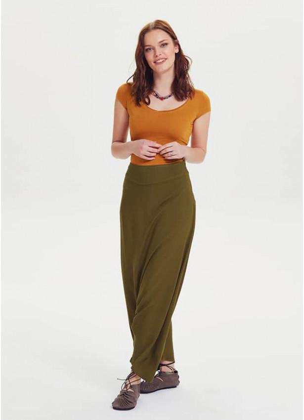 Bohem Tarz Fermuar Modern Kadın Şalvar Pantolon
