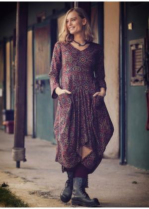 Uzun Kollu Elbise