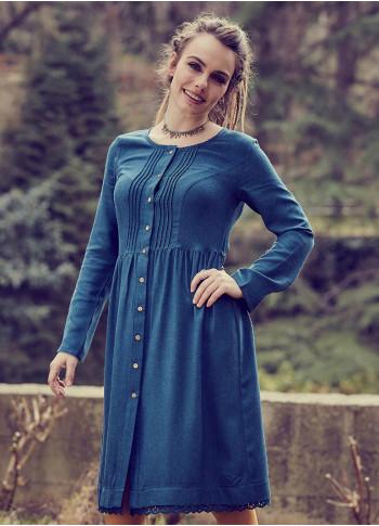 Kışlık Elbise - E82petrolmavi