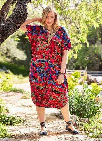 Etek Ucu Detaylı Büyük Beden Elbise