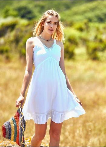 Yazlık Beyaz Elbise