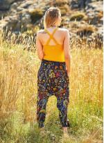 Tropik Desenli Gipe Bel Kadın Şalvar Pantolon