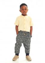 Çocuk Elastik Bilekli Bağcıklı Hitit Şalvar Erkek Pantolon
