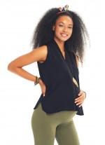 Siyah Ön Pilikaşe Detaylı V Yaka Hamile Bluz