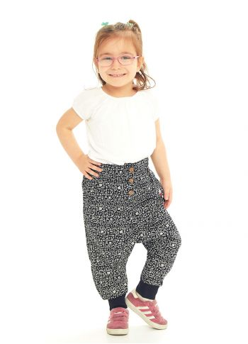 Çocuk Elastik Bilekli Bağcıklı Hitit Şalvar Pantolon