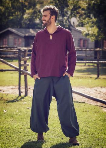Beli Lastikli Cepli Erkek Haki Şalvar Pantolon