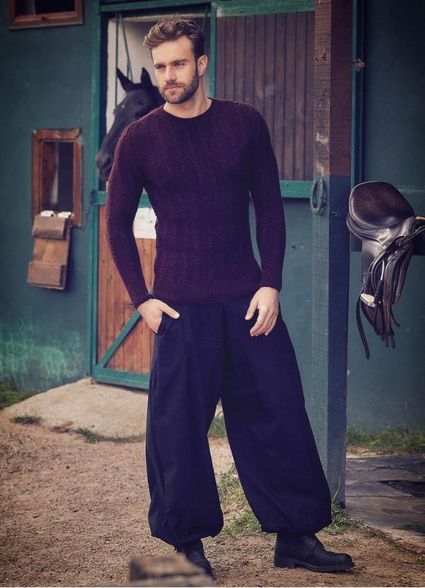 Beli Lastikli Cepli Erkek Siyah Şalvar Pantolon