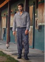 Gri Desenli Balıkçı Erkek Şalvar Pantolon