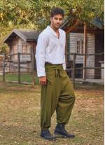 Haki Balıkçı Erkek Şalvar Pantolon
