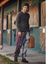 Bordo Bohem Tarz Şık Şalvar Erkek Pantolon
