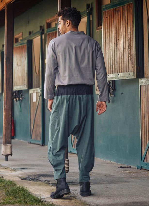 Haki Bohem Tarz Şık Şalvar Erkek Pantolon