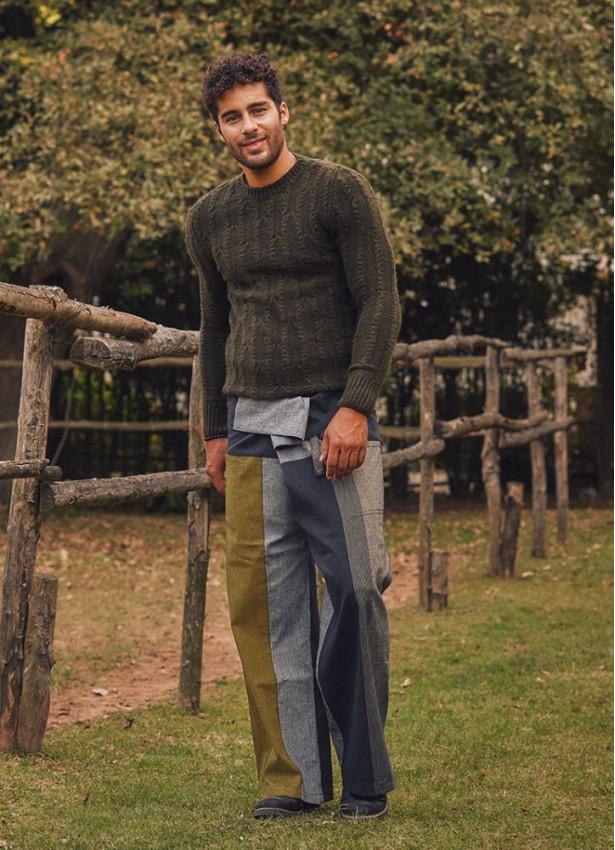 Beli Bağlamalı Rahat Kesim Kışlık Hardal Erkek Balıkçı Pantolon