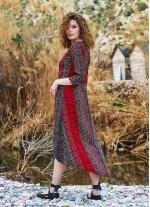 Truvakar Kol İşlemeli Çift Yırtmaçlı Tunik Elbise