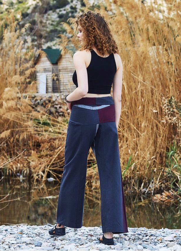 Beli Bağlamalı Rahat Kesim Kışlık Bordo Balıkçı Pantolon
