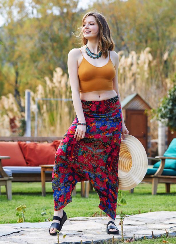 Roma Desen Fermuarlı Modern Şalvar Pantolon