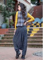 Gipe Bel Detaylı, Kışlık, Kadın Siyah  Şalvar Pantolon