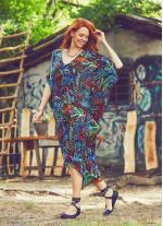 Siyah Sun Desenli Sırt Dekolteli Bohem Yazlık Elbise