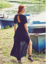 Şortlu Tulum Siyah Elbise
