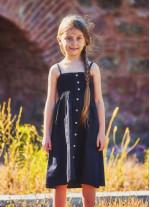 Çocuk Askılı Günlük Siyah Elbise