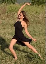 Bohem Halter Yaka Anvelop Askılı Siyah Elbise