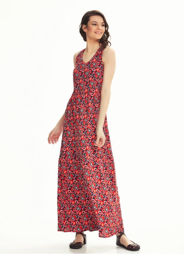 Yazlık Uzun Kırmızı Elbise