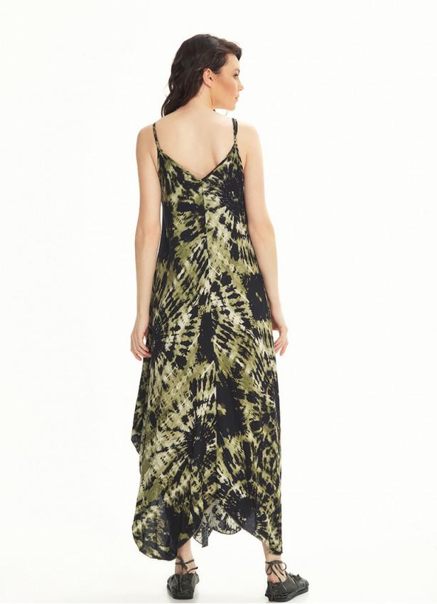 İp Askılı Batik Elbise