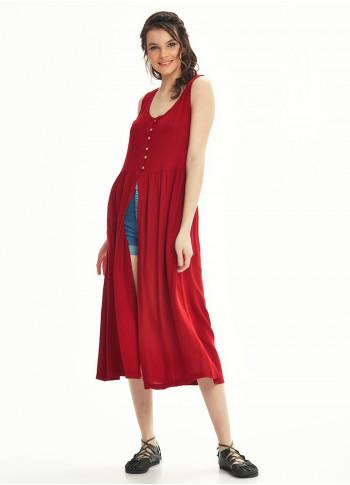 Otantik Tunik Kırmızı Elbise