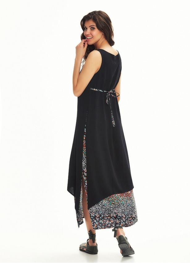 Otantik Yazlık bohem Lacivert Elbise
