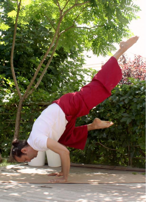 Beli Bağlamalı Bol Kesim Kırmızı Balıkçı Yoga Pantolon