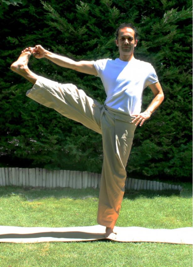 Beli Bağlamalı Bol Kesim Krem Balıkçı Yoga Pantolon