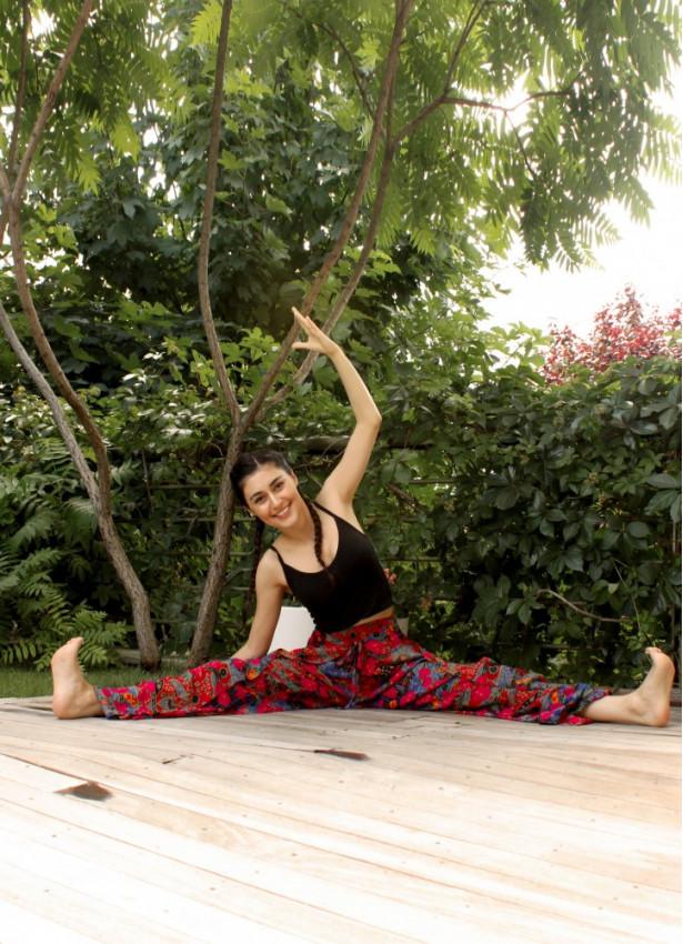 Etnik Bilmece Roma Desen Yoga Pantolon